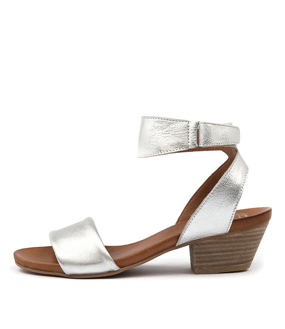 Eos Cubo W Silver Heeled Sandals