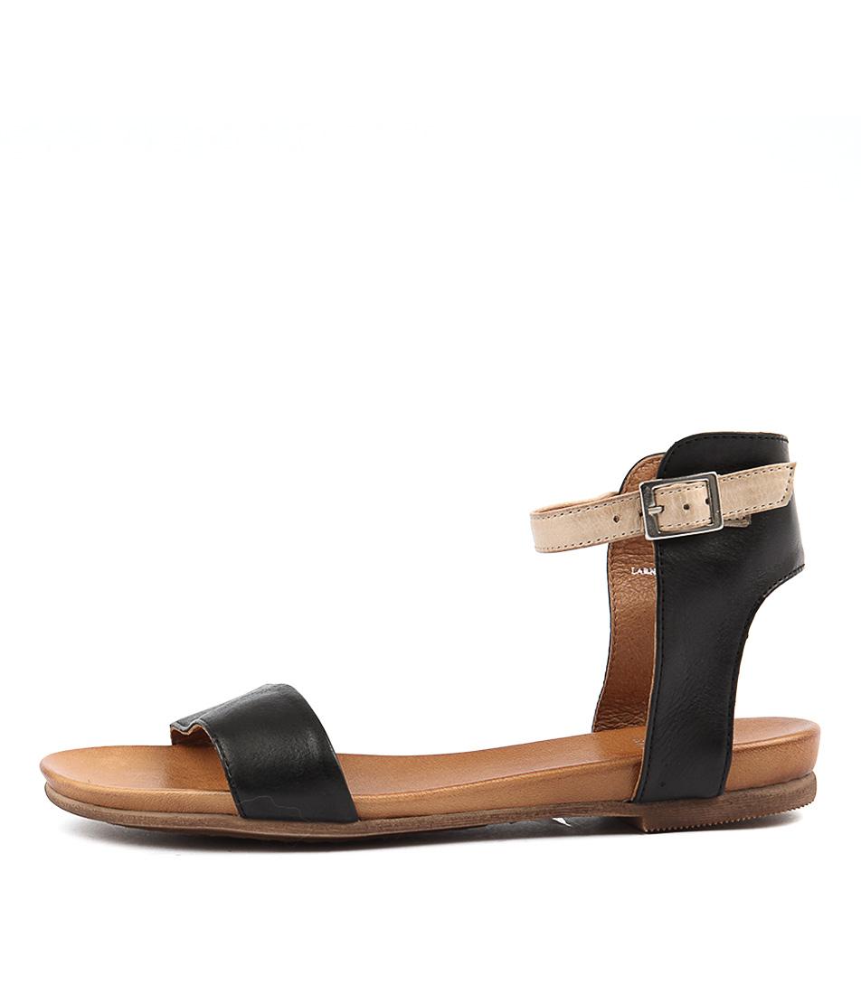 Eos Larnell W Black Cafe Crem Sandals