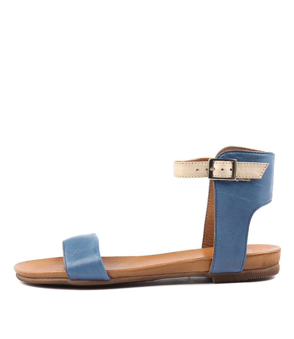 Eos Larnell W Blue Cafe Creme Sandals
