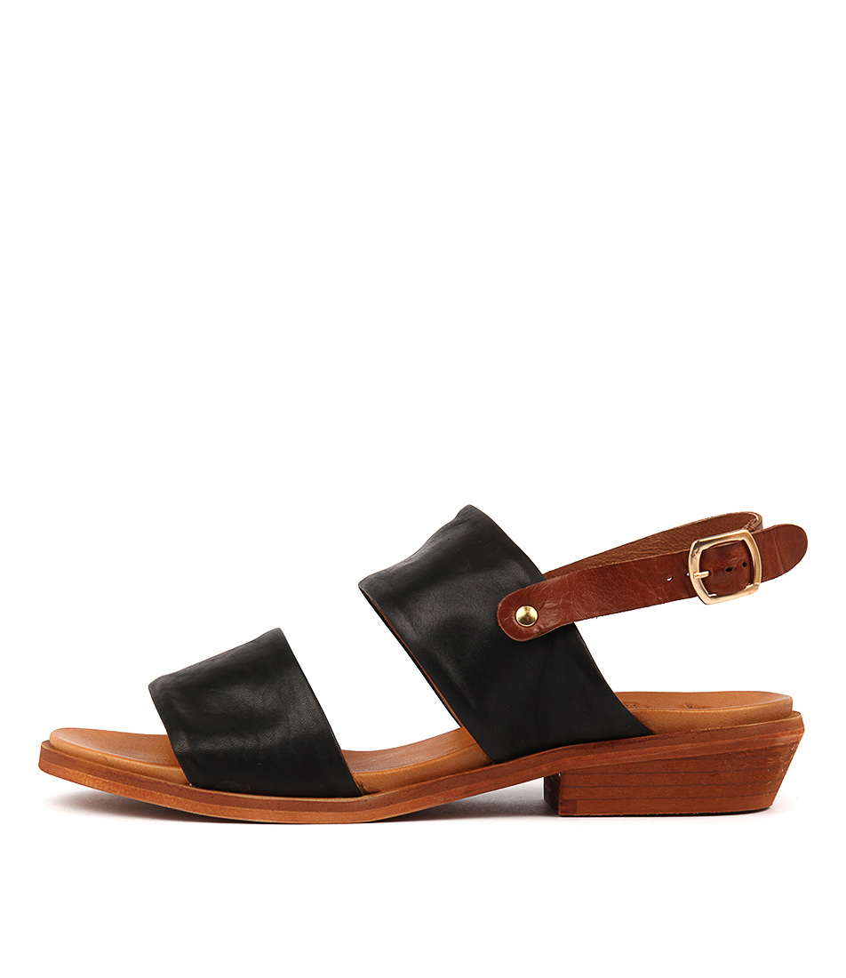Eos Leona W Black Brandy Sandals