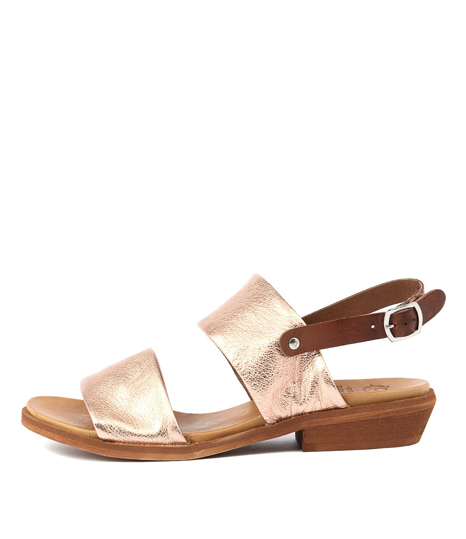 Eos Leona W Rose Gold Brand Sandals