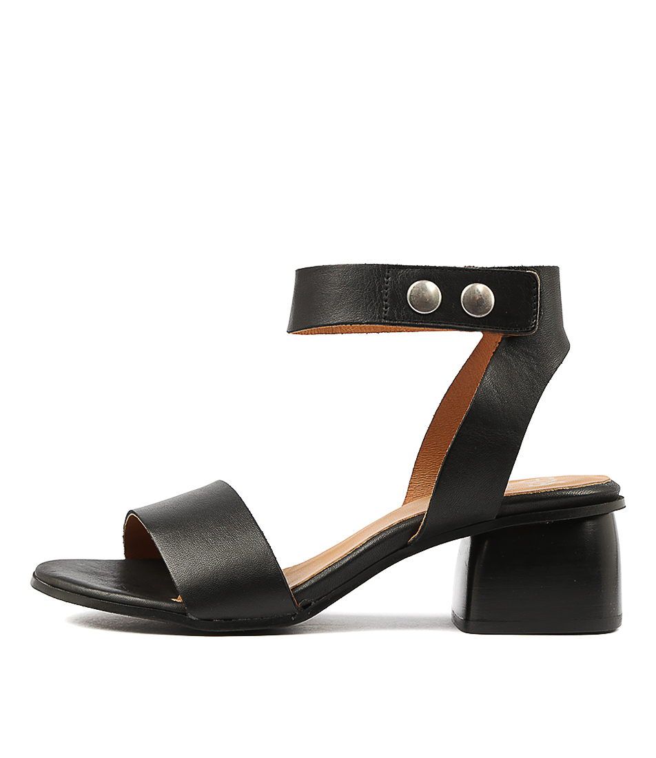 Buy Eos Port W Black Heeled Sandals online with free shipping
