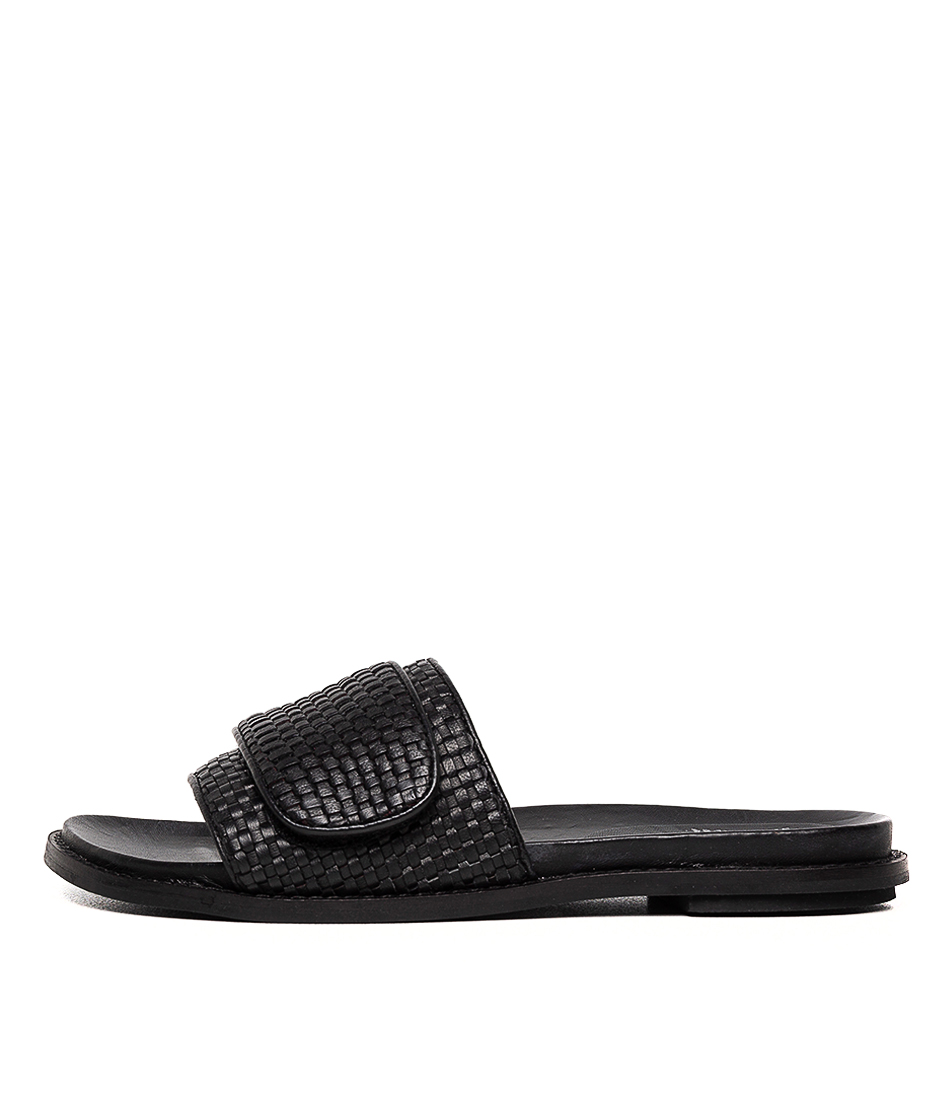Buy Eos Pile W Eo Black Flat Sandals online with free shipping