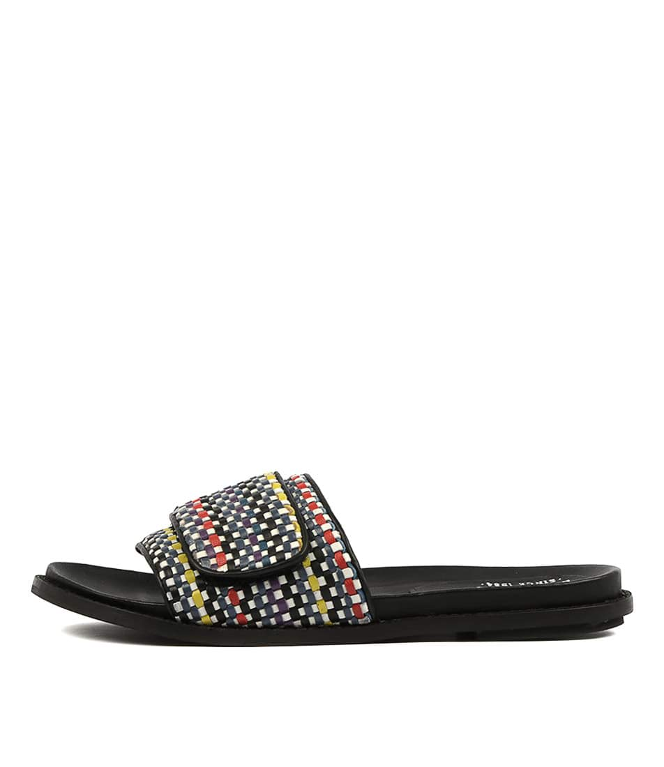 Buy Eos Pile W Eo Blue Multi Flat Sandals online with free shipping