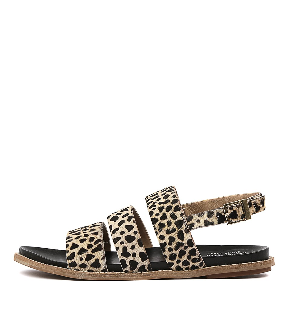 Buy Eos Pillar W Eo Ocelot Flat Sandals online with free shipping