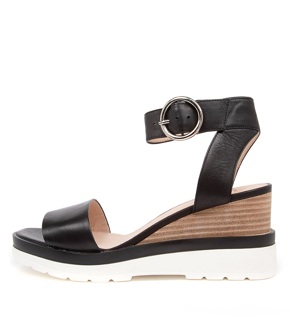 Buy Eos Joey Eo Black Flat Sandals online with free shipping