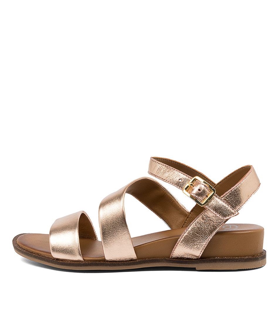 Buy Eos Failyn Eo Rose Gold Flat Sandals online with free shipping