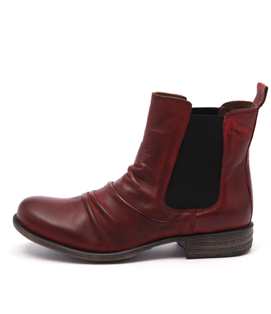 Eos Willo W Red Casual Ankle Boots