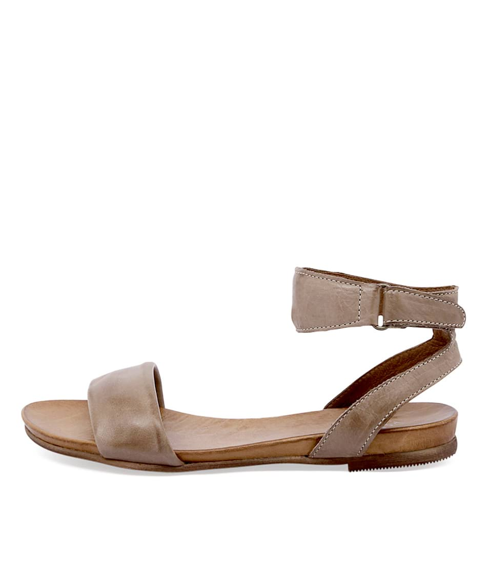 Eos Lauren W Taupe Casual Flat Sandals
