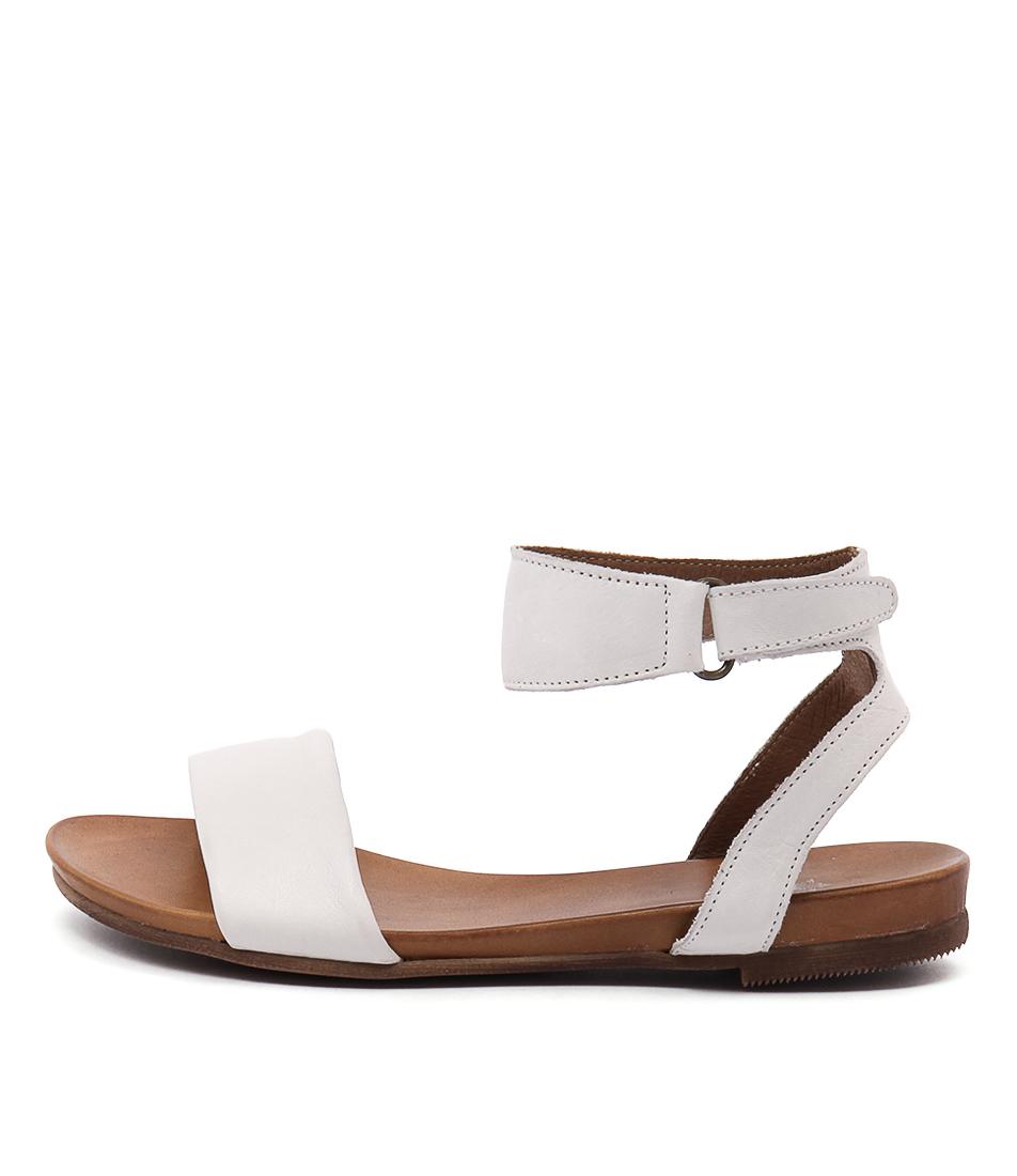 Eos Lauren W White Sandals