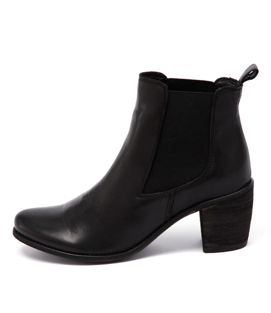 Eos Clinton Black Casual Ankle Boots
