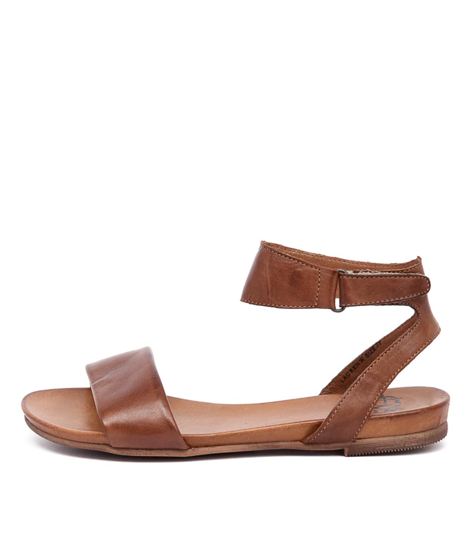 Buy Eos Lauren W Brandy Flat Sandals online with free shipping