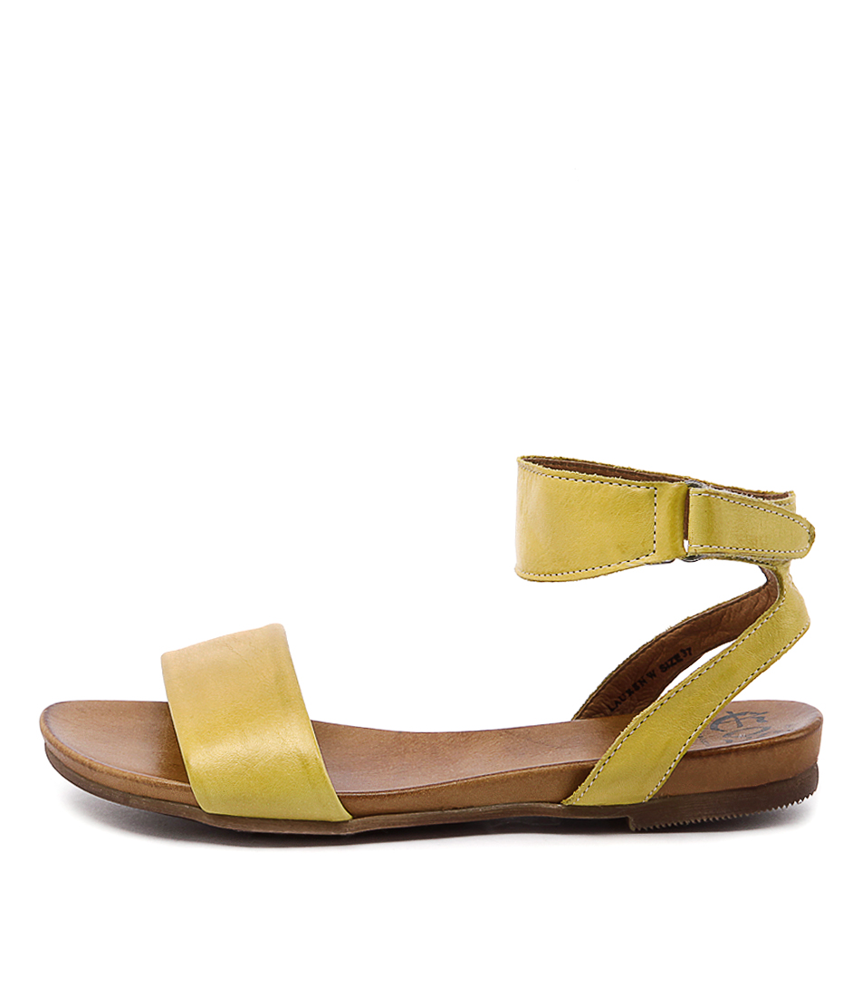Eos Lauren W Yellow Sandals