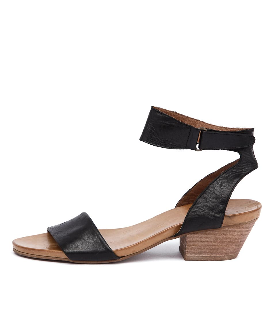 Buy Eos Cubo W Black Heeled Sandals online with free shipping