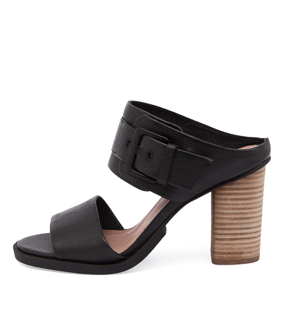 Eos Thero W Black Casual Heeled Sandals