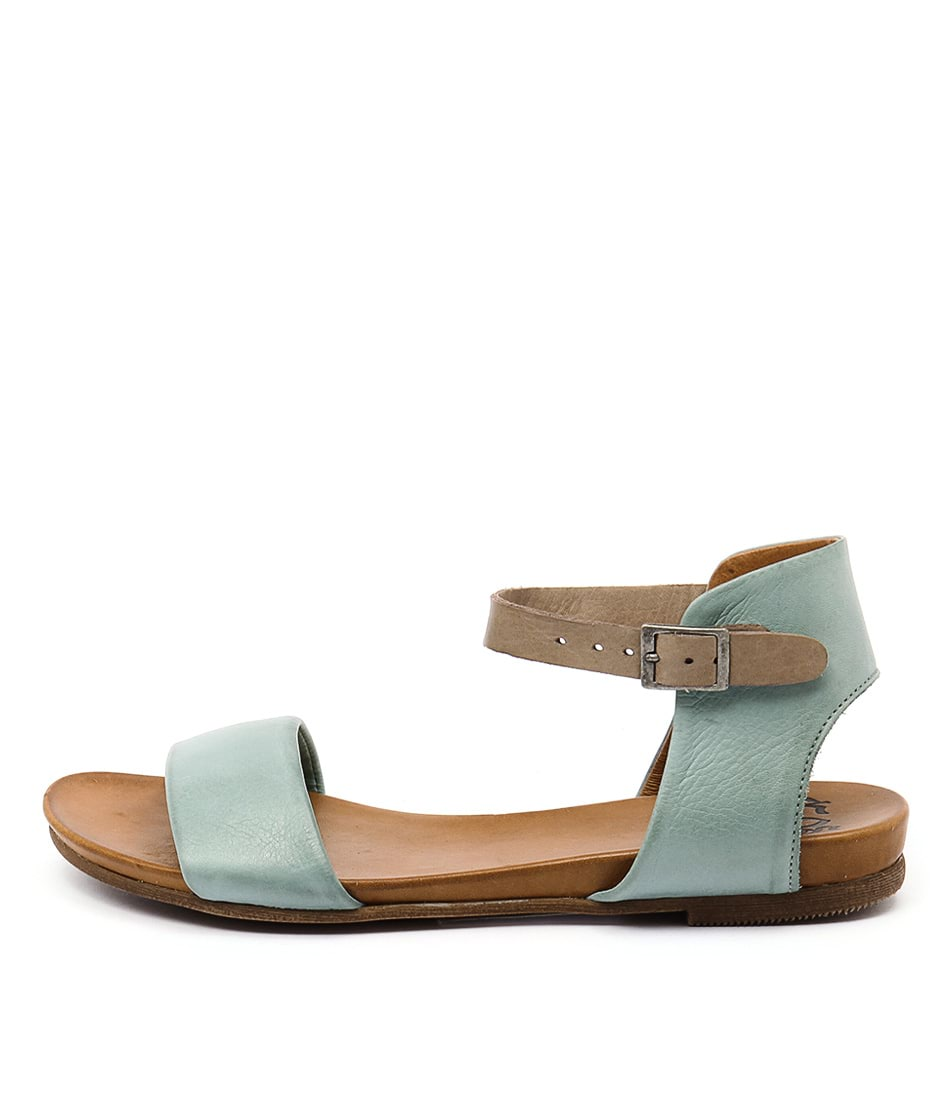 Eos Larna Azzurro Taupe Casual Flat Sandals