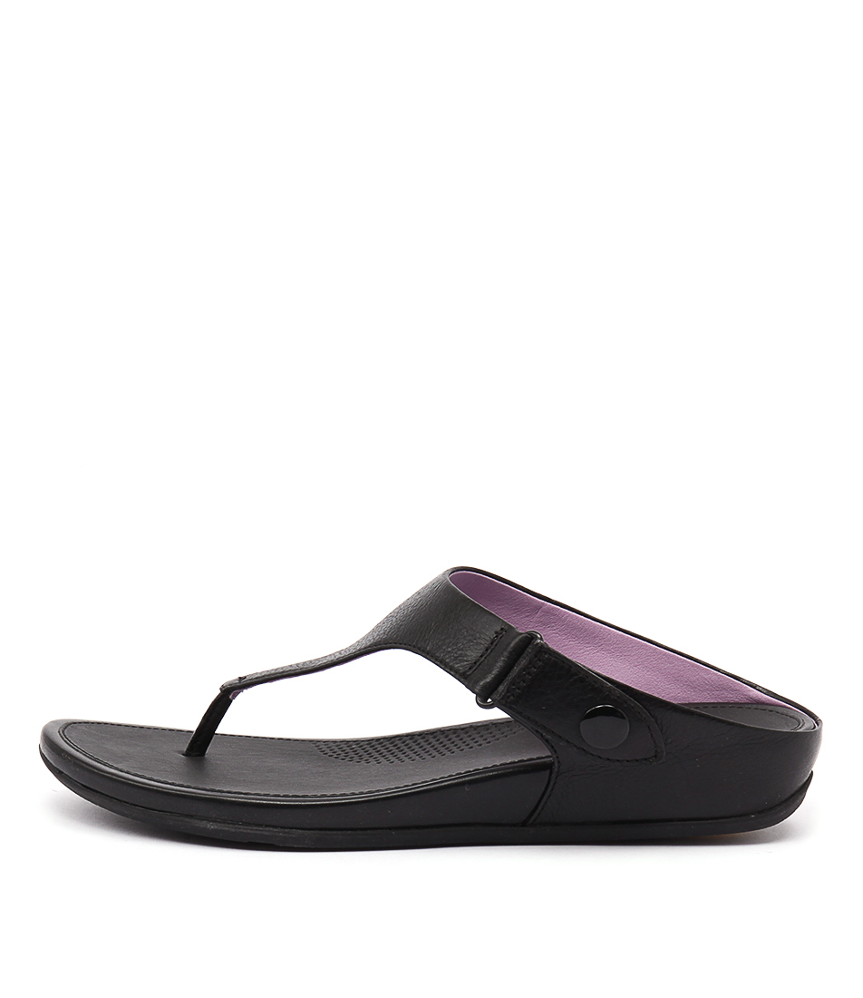 photo of Fitflop Gladdie Toe Post Black Casual Flat Sandals online