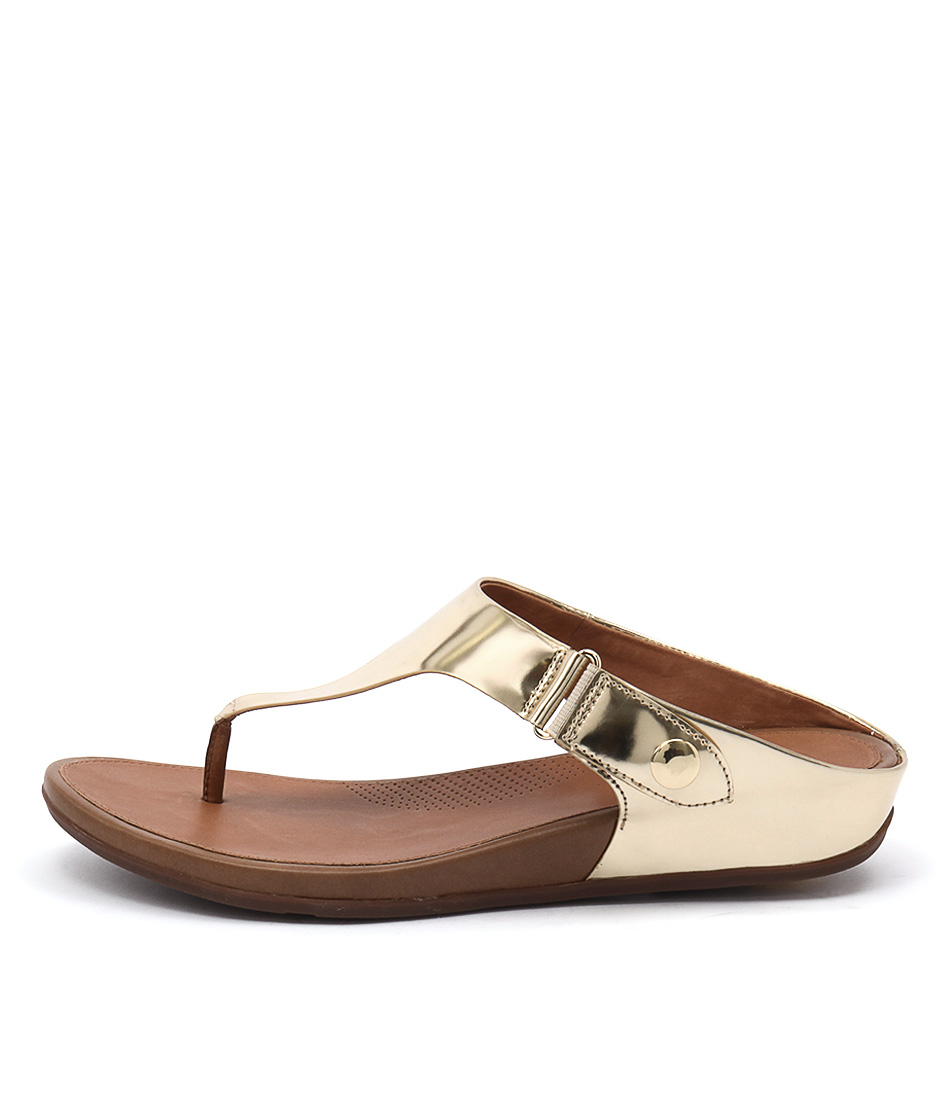 Fitflop Gladdie Toe Post Pale Gold Casual Flat Sandals