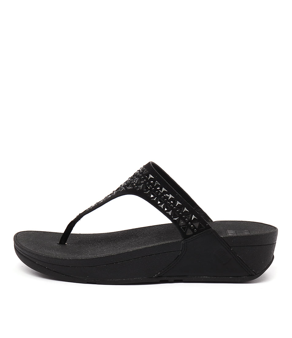 photo of Fitflop Carmel Toe Post Black Casual Heeled Sandals online