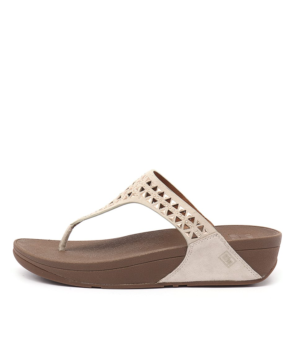 Fitflop Carmel Toe Post Rose Gold Casual Heeled Sandals