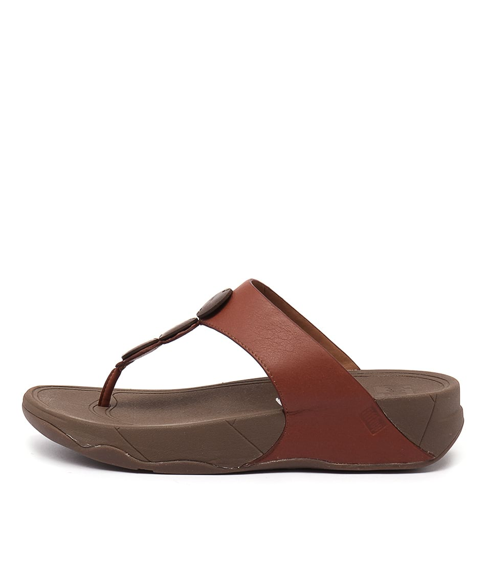 Fitflop Petra Ft Dark Tan Casual Heeled Sandals