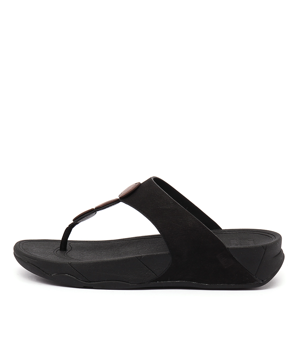 Fitflop Petra Ft Black Casual Heeled Sandals