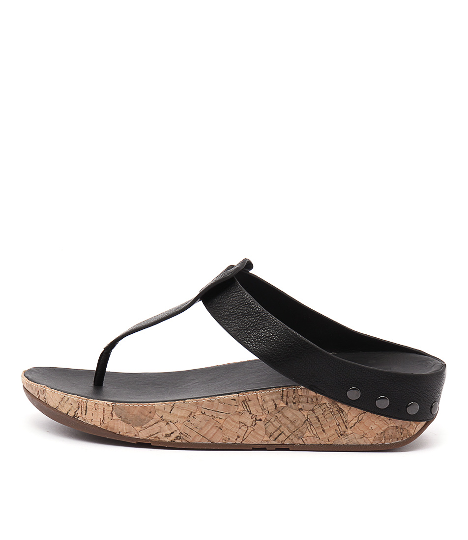 Fitflop Ibiza Cork Black Sandals