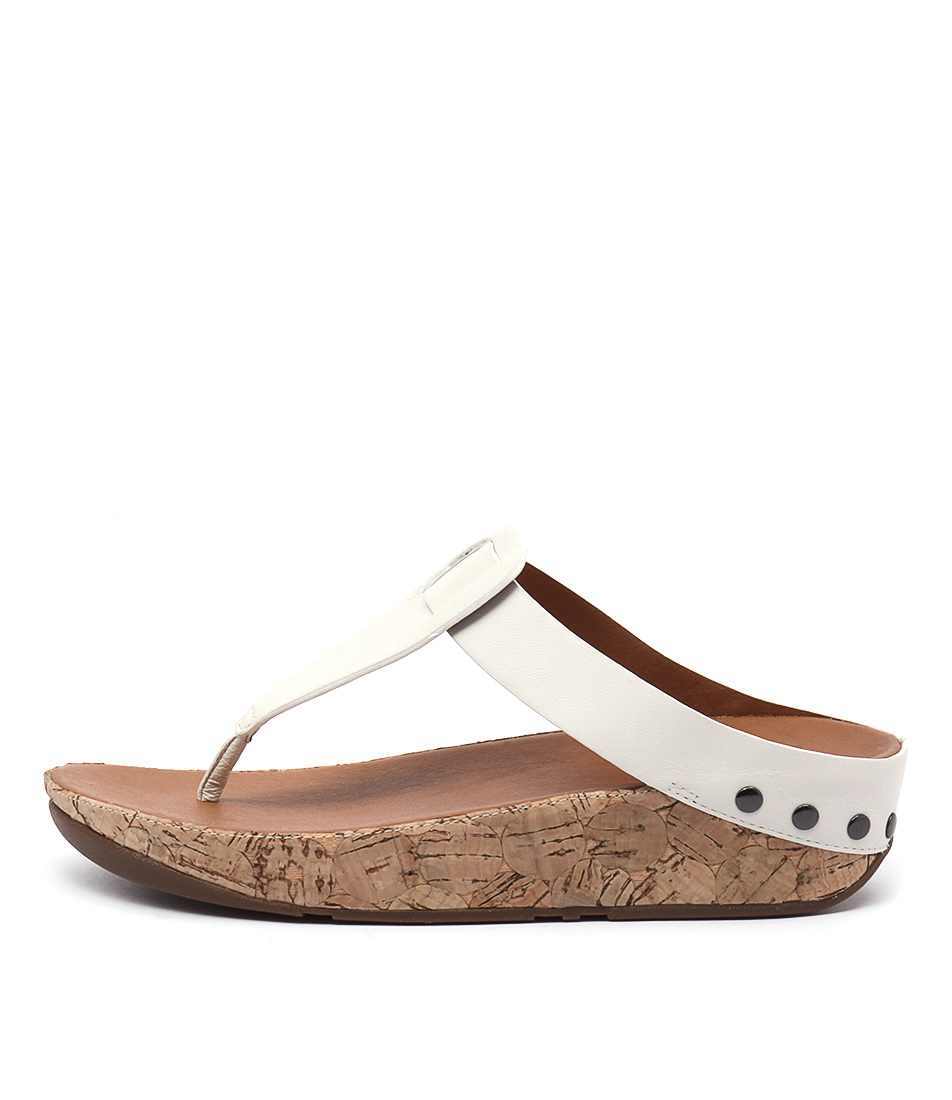 Fitflop Ibiza Cork Urban White Casual Heeled Sandals buy  online