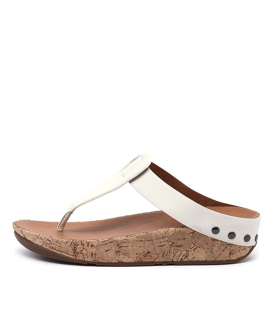 Fitflop Ibiza Cork Urban White Casual Heeled Sandals