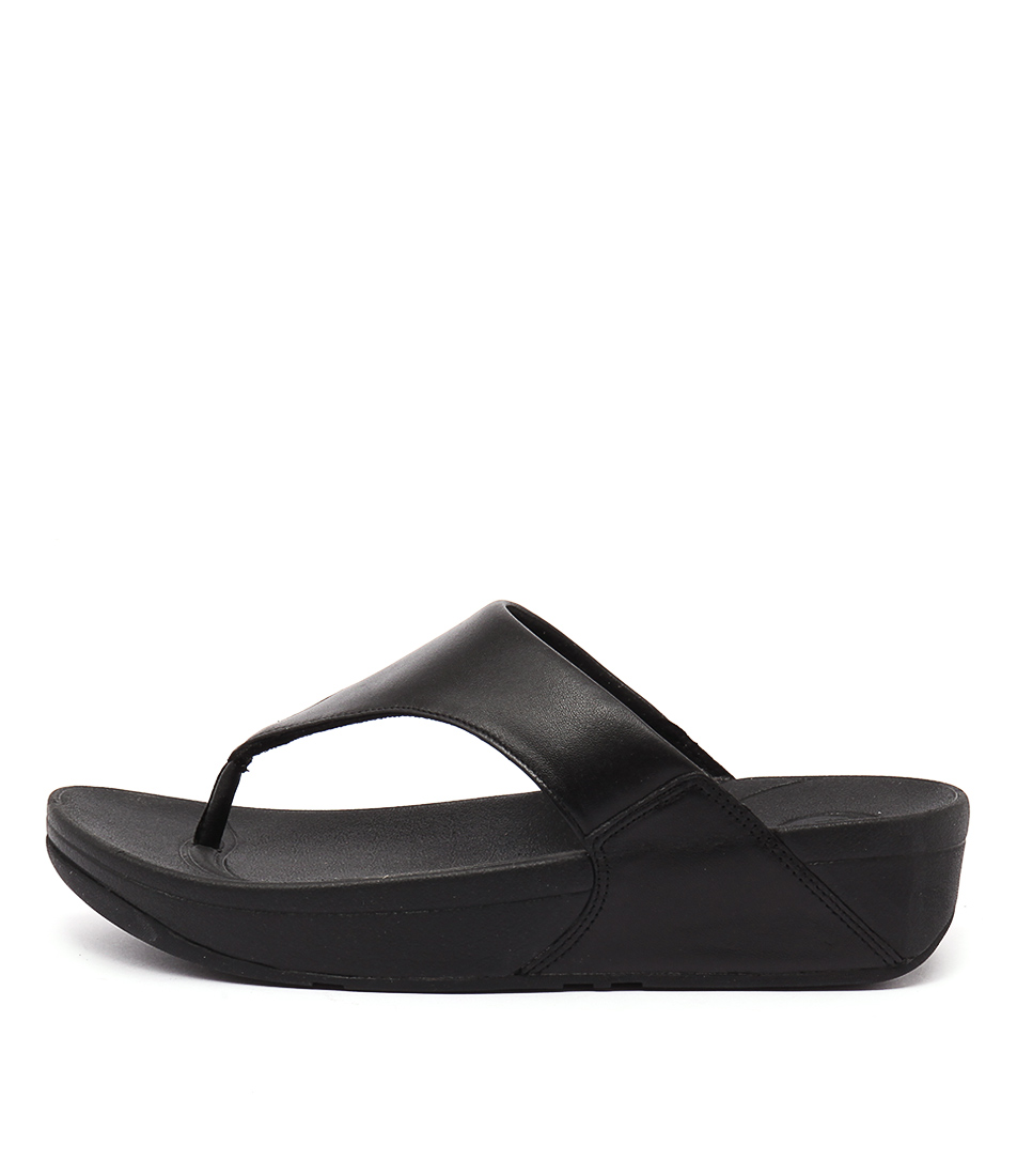 Fitflop Lulu Black Casual Heeled Sandals