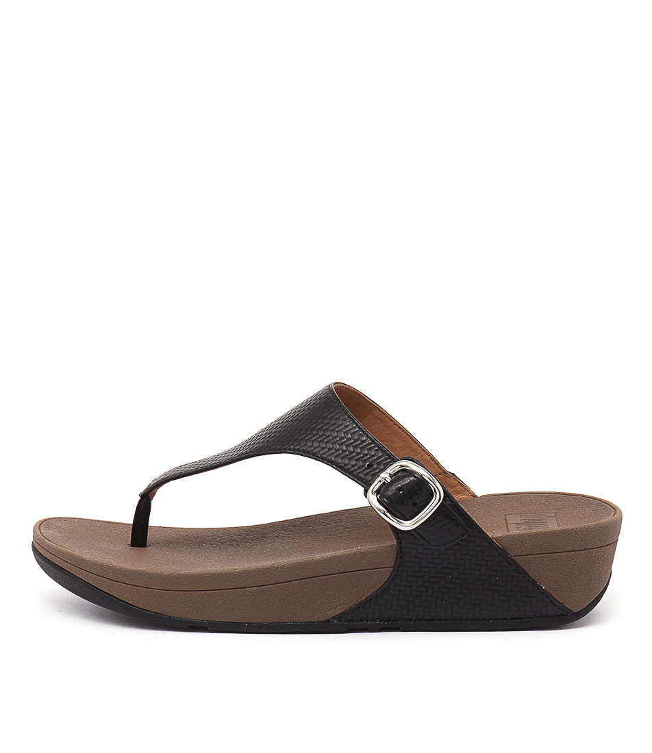 Fitflop The Skinny Black Casual Heeled Sandals