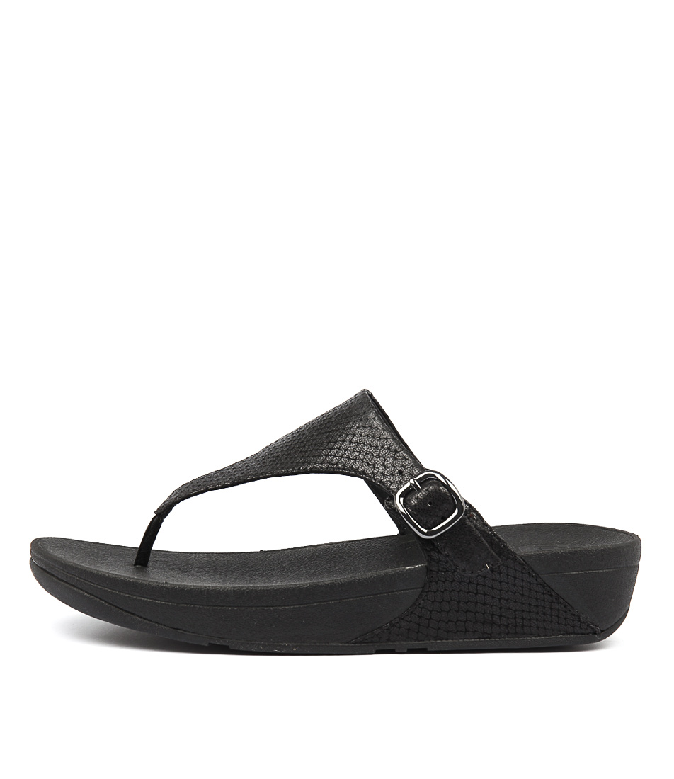 Fitflop The Skinny Black Heeled Sandals