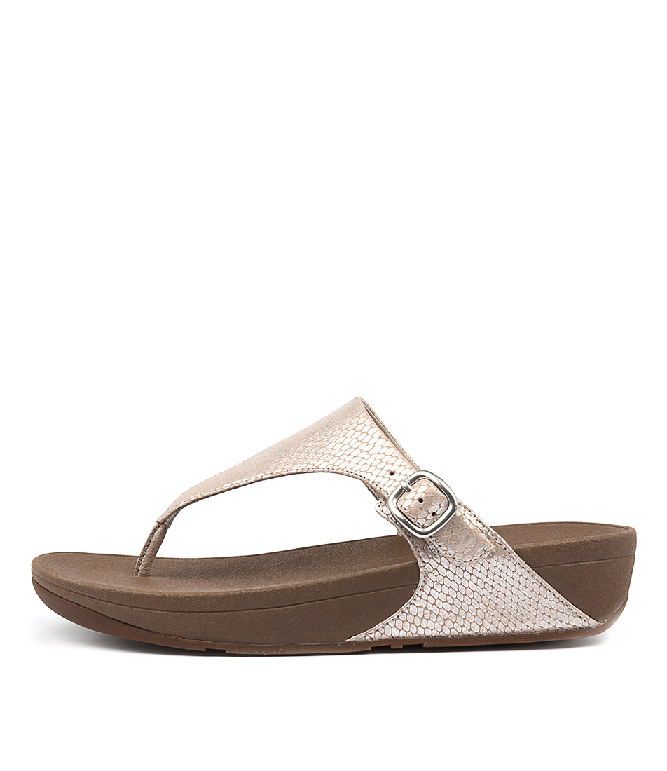 Fitflop The Skinny Silver Casual Heeled Sandals