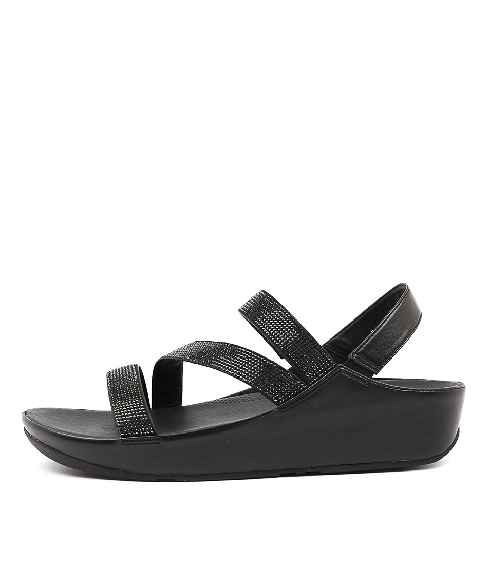 Fitflop Crystall Z Strap Sandal Black Sandals