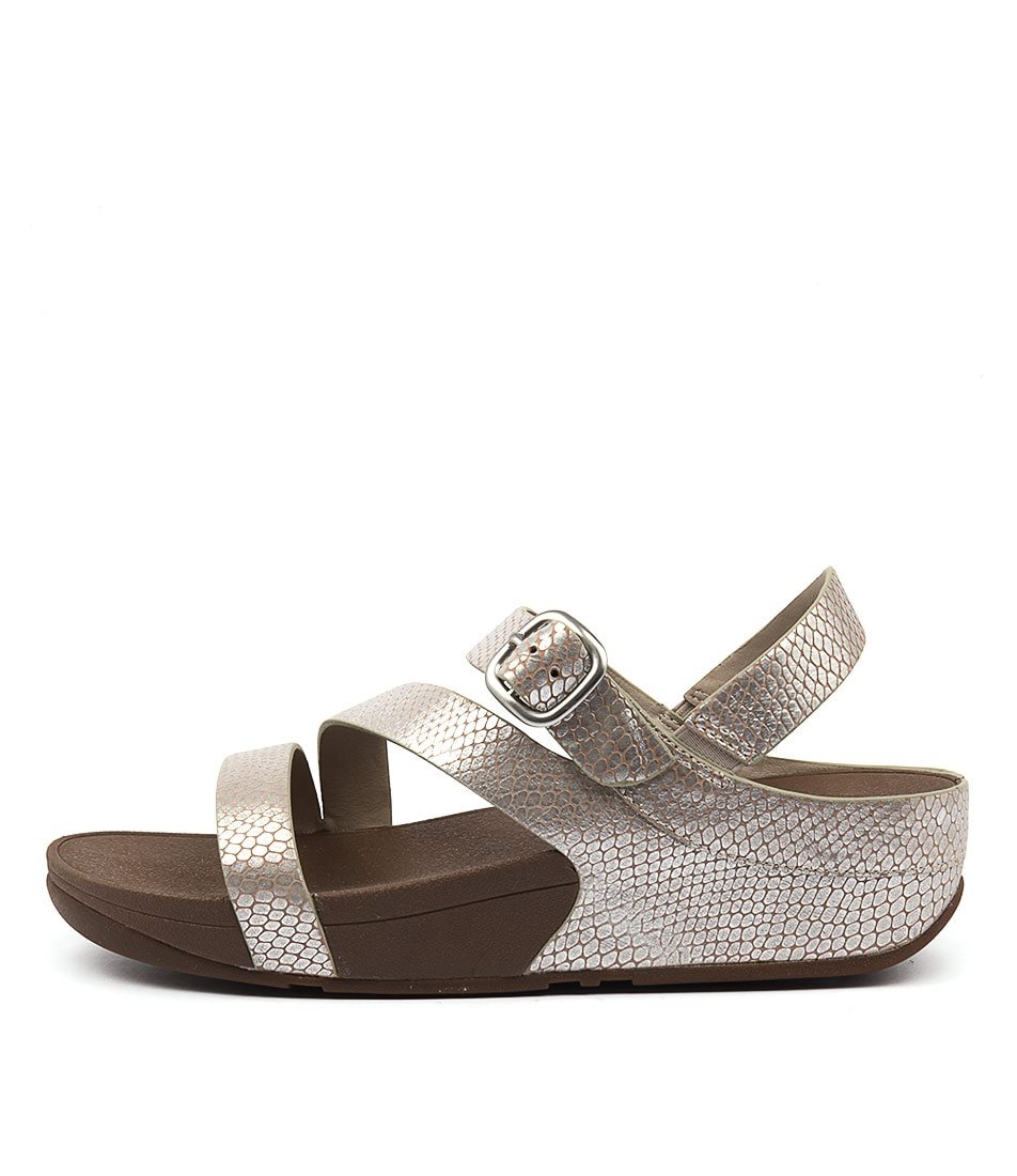 Fitflop The Skinny Z Cross Sandal Silver Casual Flat Sandals