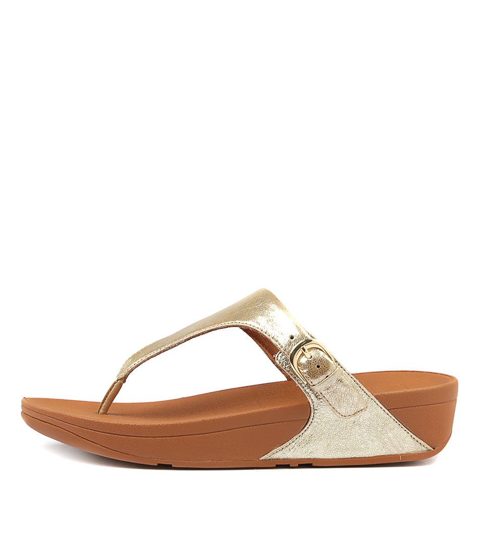 Fitflop Skinny Toe Thong Pale Gold Sandals