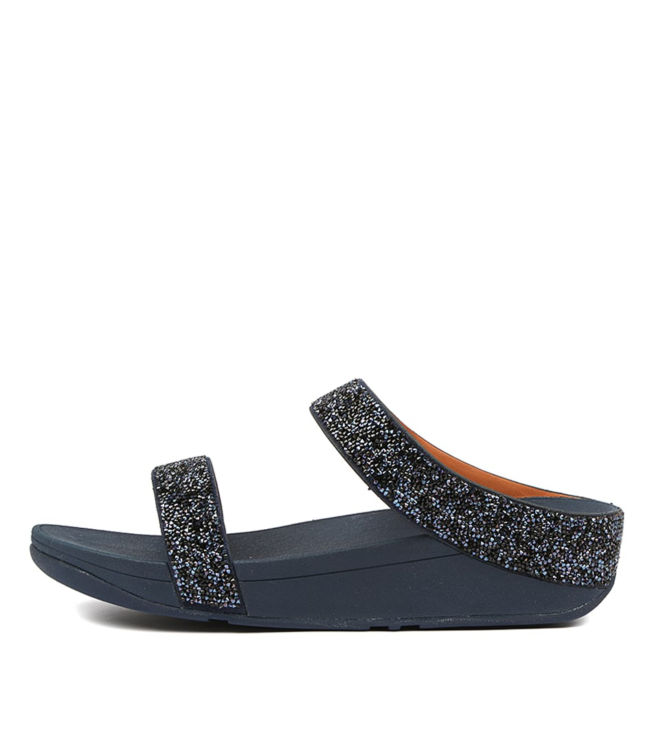 Buy Fitflop Fino Quartz Slide Blue Heeled Sandals online with free shipping
