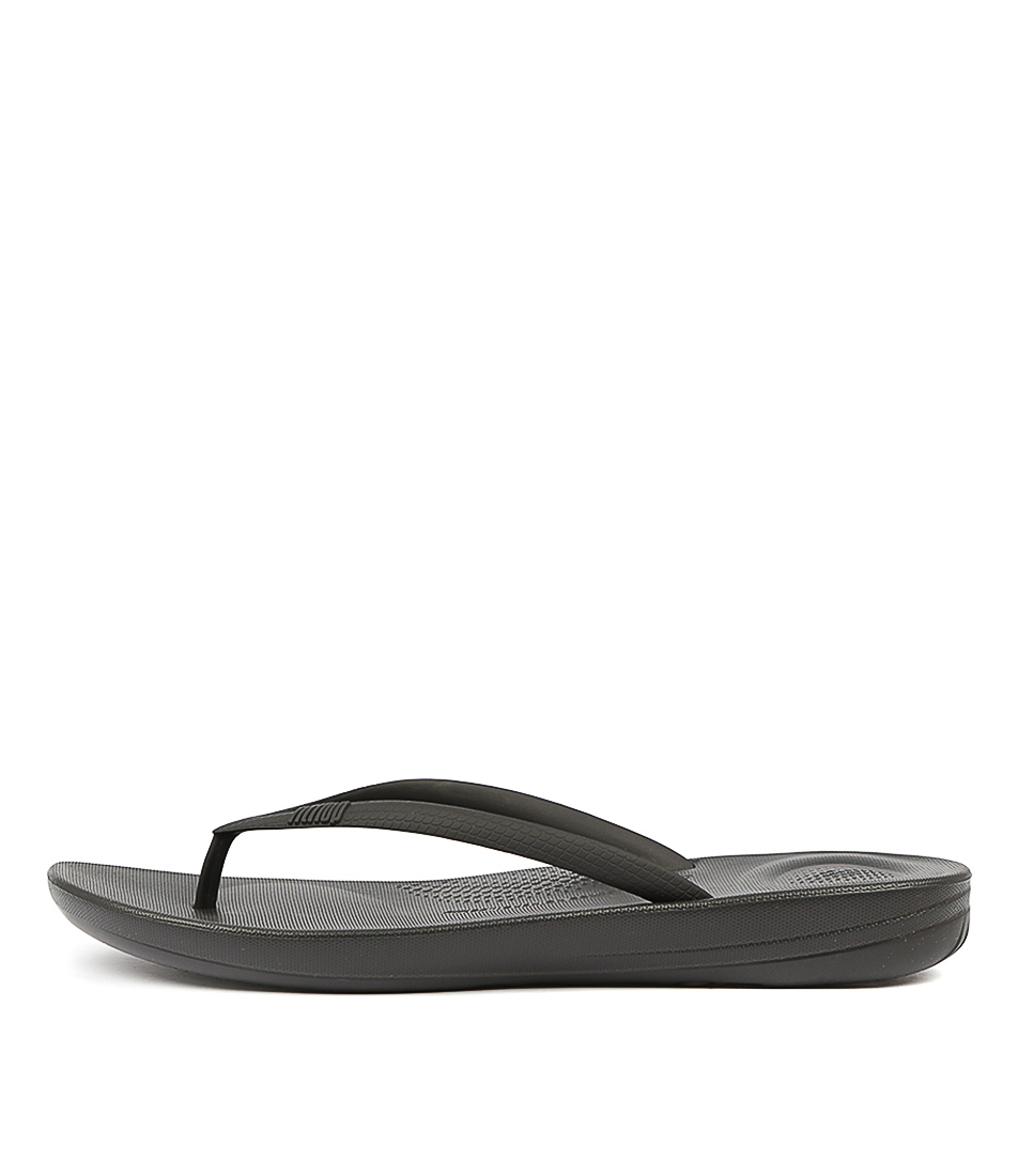 Buy Fitflop Iqushion Ergonomic Flip Flops Black Sandals online with free shipping