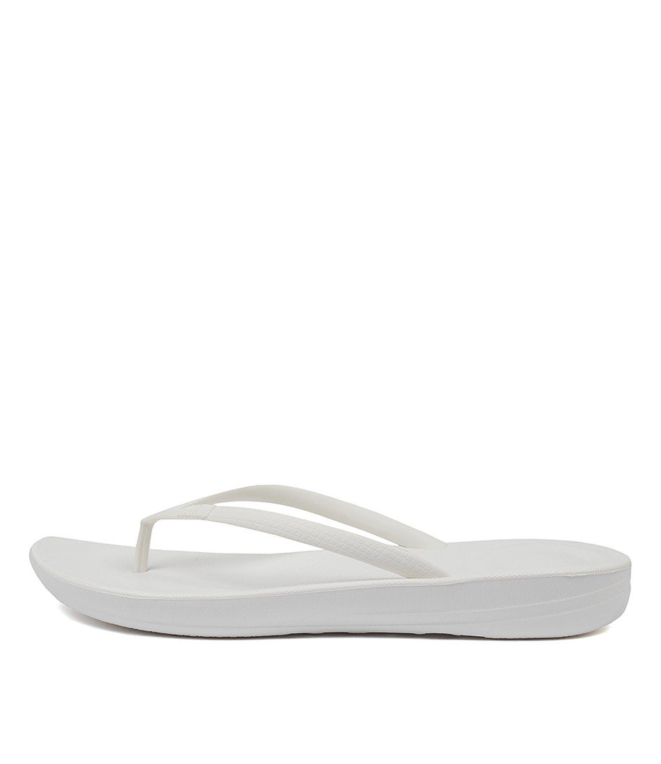 Buy Fitflop Iqushion Ergonomic Flip Flops Urban White Flat Sandals online with free shipping