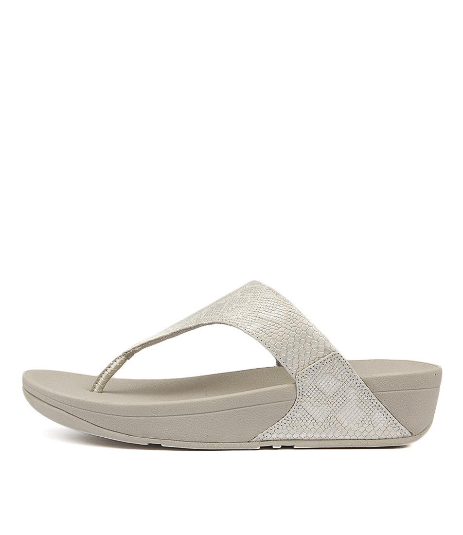 Fitflop Exotic Lulu Toe Thong Urban White Sandals