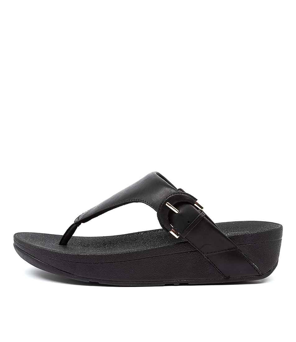 Buy Fitflop Lottie Buckle Toe Thongs Ft Black Heeled Sandals online with free shipping