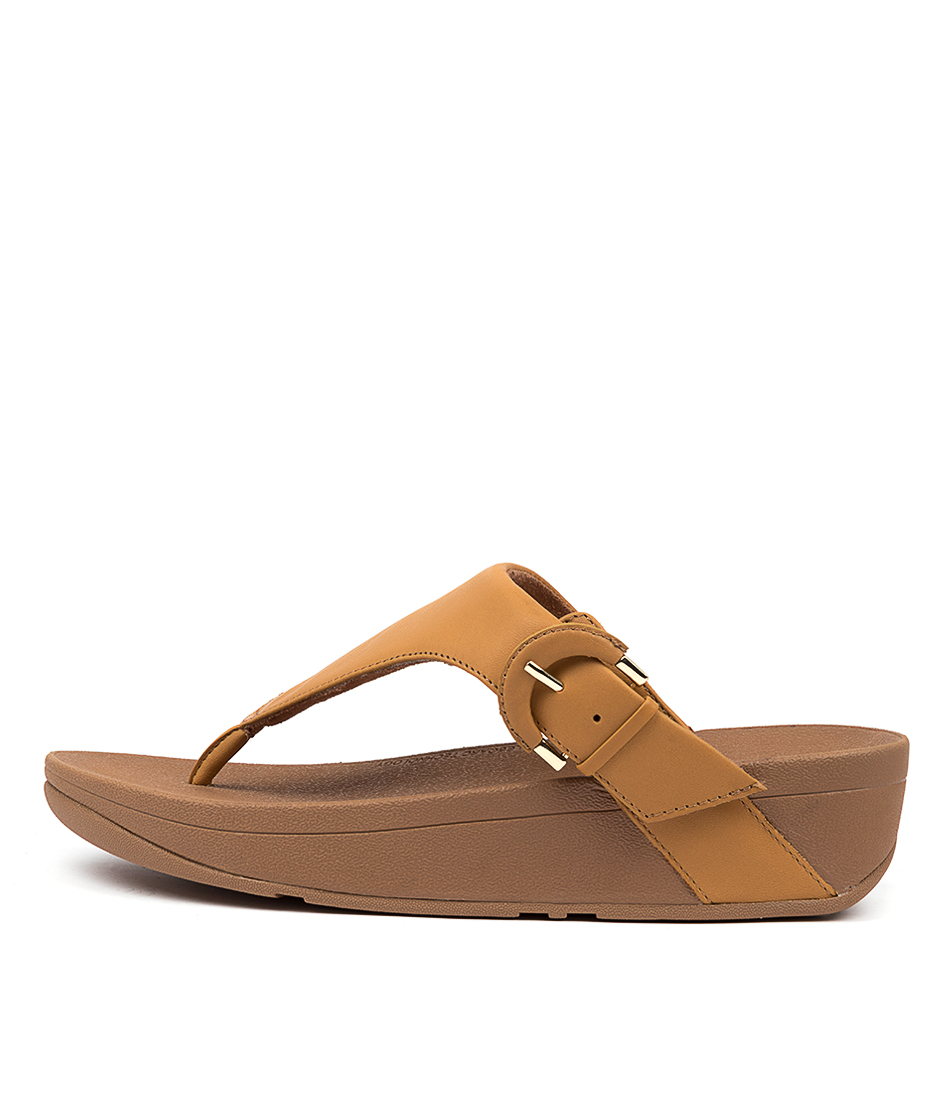 Buy Fitflop Lottie Buckle Toe Thongs Ft Mustard Heeled Sandals online with free shipping