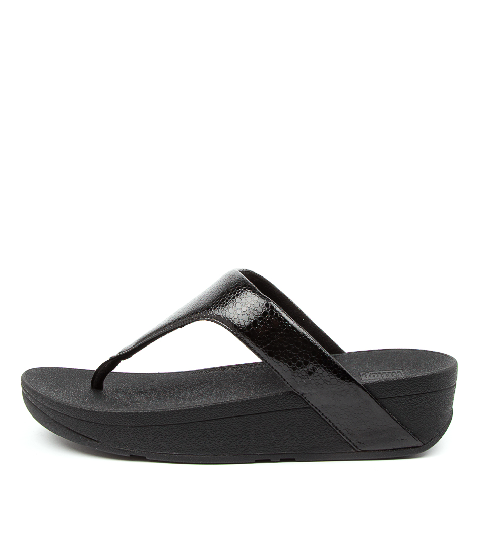 Buy Fitflop Ffbg1 Lottie Iridscnt Scl T Ft Black Sandals online with free shipping