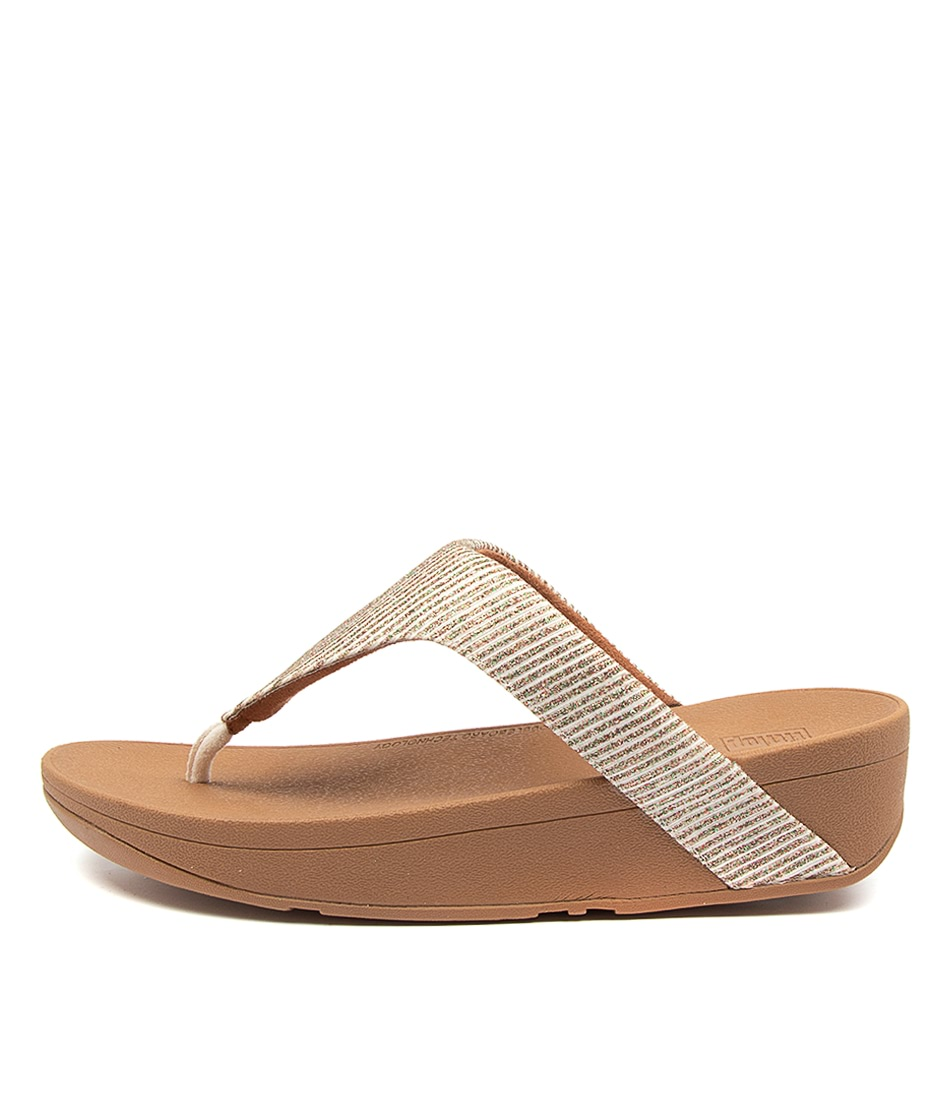 Buy Fitflop Ffbf7 Lottie Glitter Strip Ft Stone Flat Sandals online with free shipping