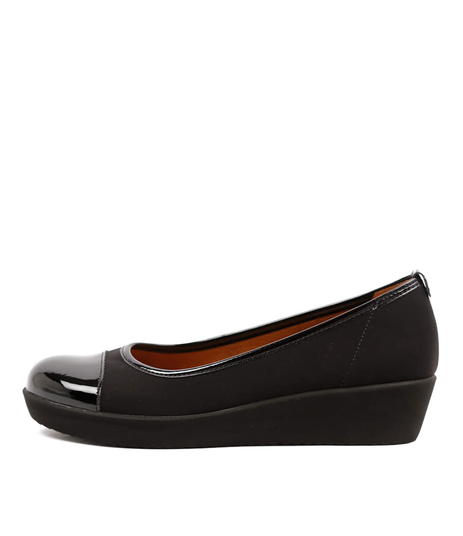 Gabor Charlotte Schwarz Casual Heeled Shoes