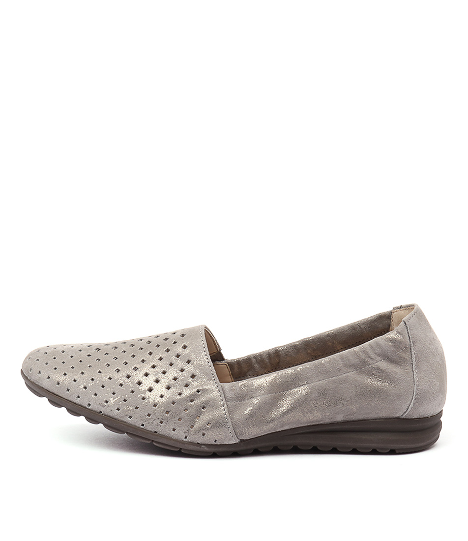 Gabor Emilia Taupe Flat Shoes