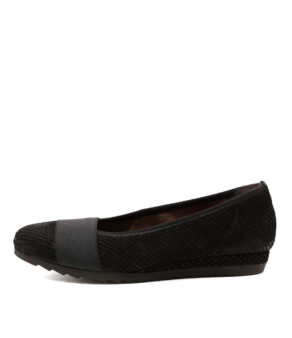 Gabor Freja Schwarz Dress Flat Shoes