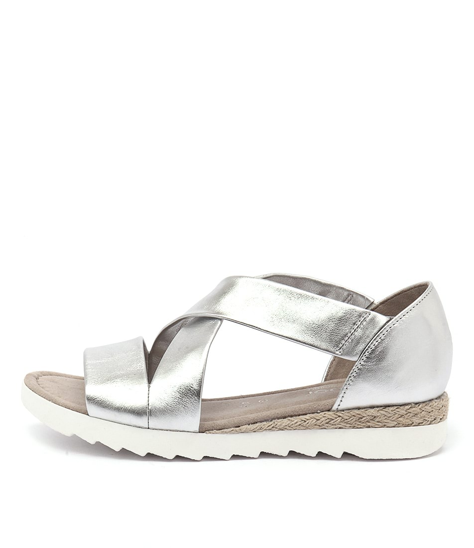 Buy Gabor Marilyn Silver Flat Sandals online with free shipping