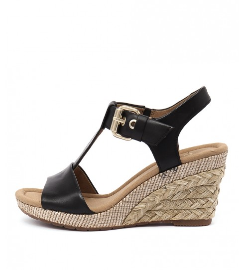 Buy Gabor Pia Schwarz Casual Heeled Sandals online with free shipping