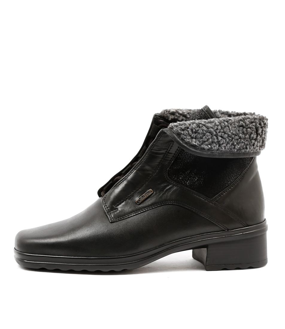 Gabor Zahra Schwarz Ankle Boots